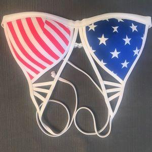 VS PINK American Flag Bikini Top